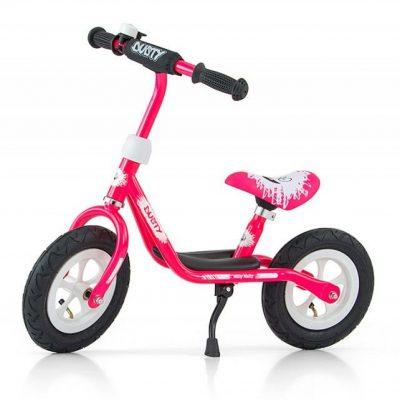 Rower dziecięcy Dusty 12'' różowo-biały (GXP-628623).