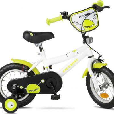 """Rower dziecięcy Accent Monster 12"""" biało-zielony uniwersalny."""
