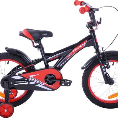 Rower dziecięcy 16 Fuzlu Racing czarno-czerwony uniwersalny.