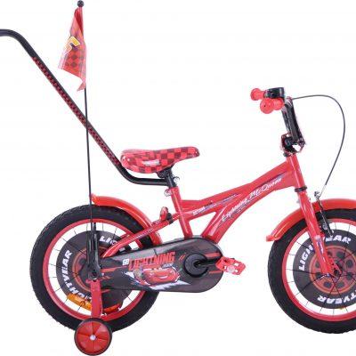Rower dziecięcy 16 Auta CARS zygzak McQueen czerwony uniwersalny.