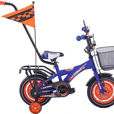 Fuzlu Rower dziecięcy 12 BMX Racing Fuzlu niebiesko-pomarańczowy uniwersalny.