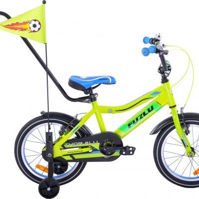 Rower dziecięcy 16 Fuzlu Thor alu. żółto-zielony uniwersalny.