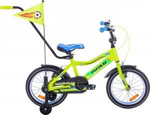 Fuzlu Rower dziecięcy 16 Fuzlu Thor alu. żółto-zielony uniwersalny.