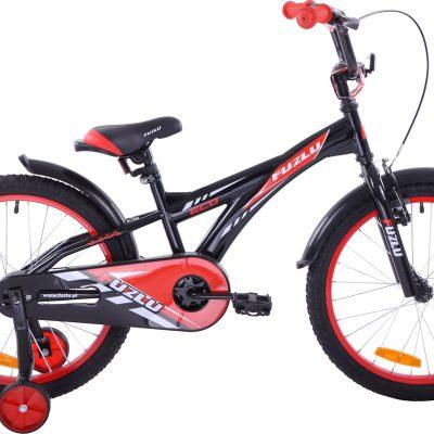 Rower dziecięcy 20 Fuzlu Eco czarno-czerwony uniwersalny.
