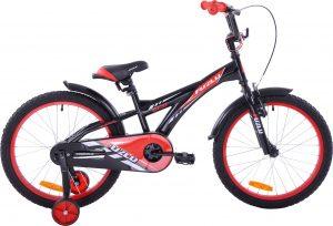 Fuzlu Rower dziecięcy 20 Fuzlu Eco czarno-czerwony uniwersalny.