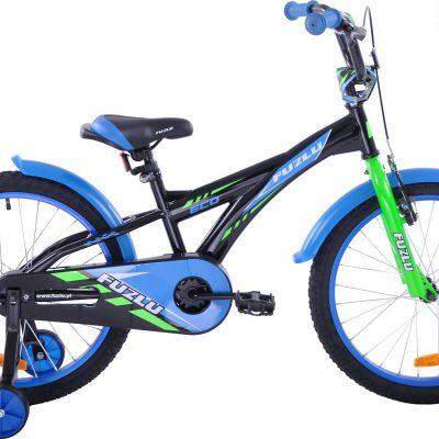 Rower dziecięcy 20 Fuzlu Eco czarno-niebieski uniwersalny.