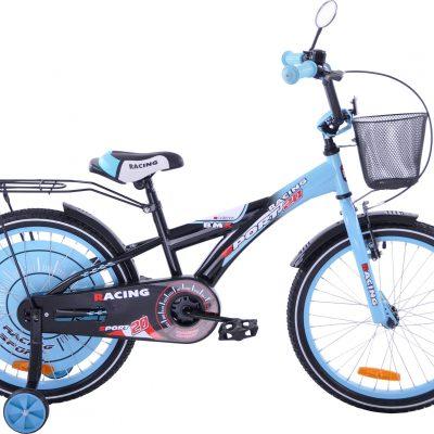 Fuzlu Rower dziecięcy 20 Racing Sport czarno-niebieski uniwersalny.