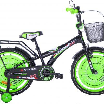 Fuzlu Rower dziecięcy 20 Racing Sport czarno-zielony uniwersalny.