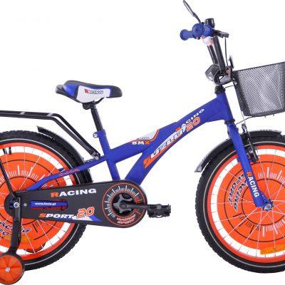 Rower dziecięcy 20 Racing Sport niebiesko-pomarańczowy uniwersalny.