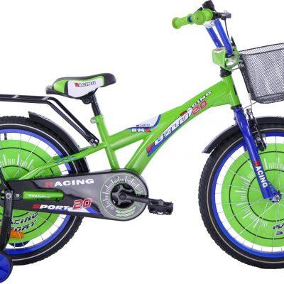 Fuzlu Rower dziecięcy 20 Racing Sport zielono-niebieski uniwersalny.
