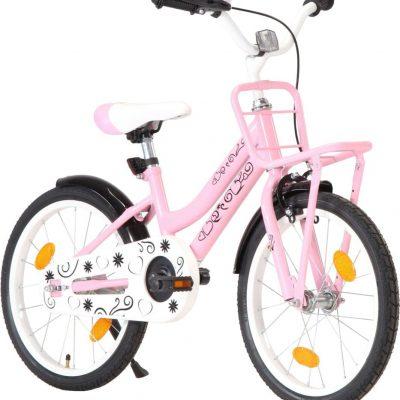 """vidaXL Rower dziecięcy 18"""" różowy."""
