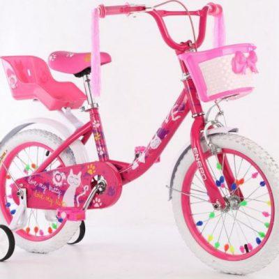 Rower dziecięcy 16 cali z wyposażeniem Enero Love Kitty.