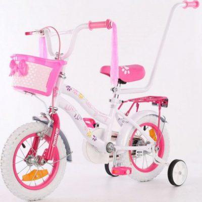 Rower dziecięcy 12 cali z wyposażeniem Enero Love Kitty.