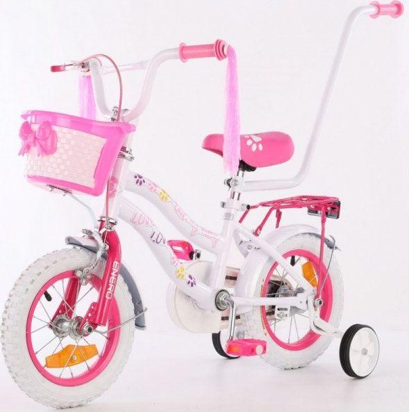 ENERO Rower dziecięcy 12 cali z wyposażeniem Enero Love Kitty.