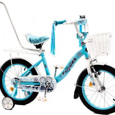"""Vivo Rower dziecięcy FLOWER 16"""" błękitno-biały Uniwersalny."""