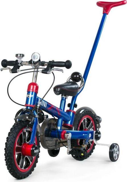 Rower dziecięcy z pchaczem MINI - niebieski.